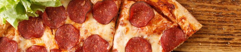 Delicious pepperoni pizza slices.