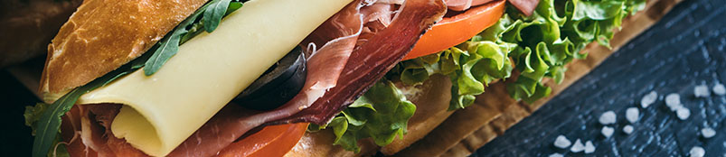 Salami Submarine Sandwich Closeup